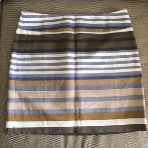 ANN TAYLOR LOFT Striped Career Skirt-Size 4